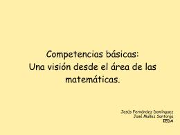 Competencias básicas: Una visión desde el área de las matemáticas.