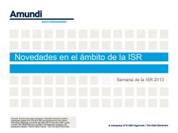 AMUNDI - Mesa Redonda Semana de la ISR