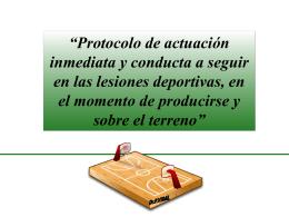 Protocolo de actuación y conducta a seguir en las lesiones deportivas