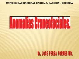 Anomalías Craneofaciales (Clase 13 de Octubre 2012)