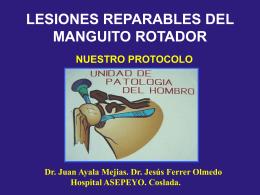 LESIONES REPARABLES DEL MANGUITO ROTADOR