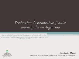 Breve caracterización del Sector Público Municipal en Argentina