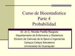 Biostatistics course Part 4. Probability in Spanish