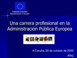 Un empleo en la Administración Pública Europea