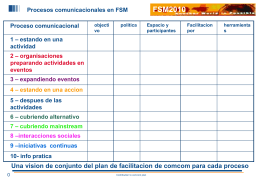 Procesos comunicacionales en FSM Espacio abierto