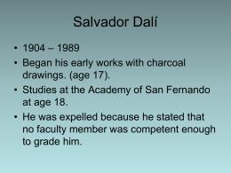 Salvador Dalí - Marion City Schools