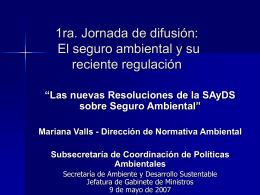Seguro ambiental Reglamentación del artículo 22 de la LGA