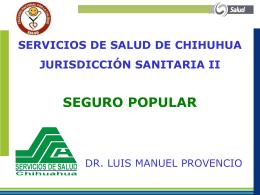 servicios de salud de chihuhua jurisdicción sanitaria ii seguro popular