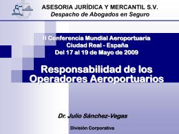 Responsabilidad de los Operadores Aeroportuarios