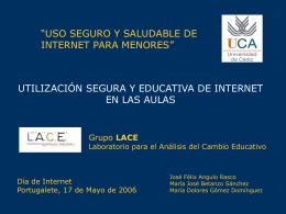 Utilización segura y educativa de Internet en las aulas