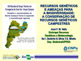 a conservação de recursos genéticos campestres