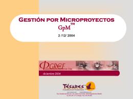 Tesares:Gestión por Microproyectos por José Miguel Guallar y