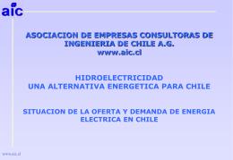 Hidroelectricidad Una Alternativa Energética Para Chile