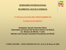 seminario internacional de direito. águas e energia