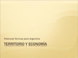 Territorio y economía