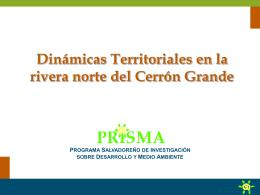 Dinámicas Territoriales en la rivera norte del Cerrón Grande