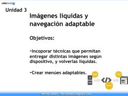 Diapos de la Unidad 3 - Responsive Web Design