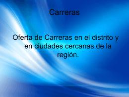 ORDEN 3 Carreras region
