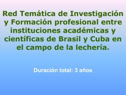 Red Temática de Investigación y Formación profesional entre
