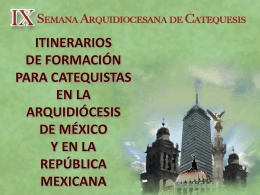 Diapositiva 1 - Vicaría de Pastoral