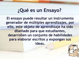 ¿Cómo hacer un ensayo? - Profesora Claudia Reyes
