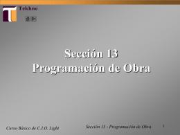 T17 Tutorial CIO Light - DESHABILITADO Programación de Obra