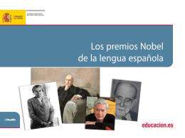 los premios Nobel de lengua española