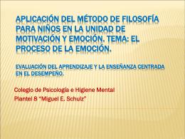 ponencia 3 aplicación del método de filosofía en la unidad de