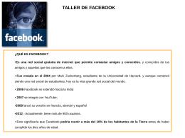 taller de facebook - Portal del comerciante