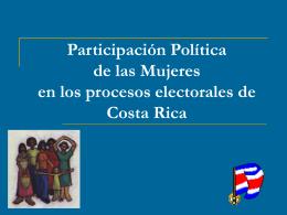 Participación Política de las Mujeres en Costa Rica