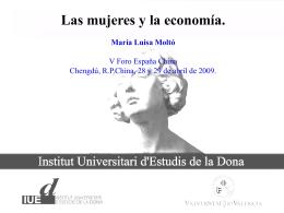 Las Mujeres en la Economía