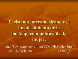 Presentación sobre Sistema Interamericano y fortalecimiento de la