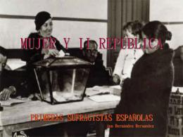 MUJER Y II REPÚBLICA