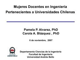 Mujeres Docentes en Ingeniería Pertenecientes a Universidades
