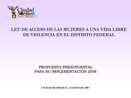 3. Ley de Acceso de las mujeres a una vida