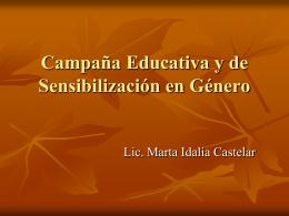 Campaña Educativa y de Sensibilización en
