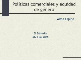 """""""Género, Tratados Comerciales y situación de las mujeres"""