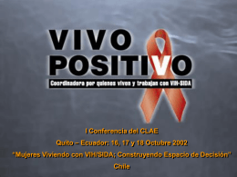 Mujeres viviendo con VIH/SIDA - Consorcio Latinoamericano de