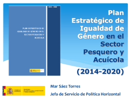 Plan Estratégico de Igualdad - REGP (Red Española de Grupos de