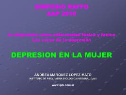 AAP 2010 Mujer Raffo - Instituto de Psiquiatría Biológica Integral
