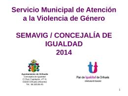 Estadisticas 20132014 - Ayuntamiento de Orihuela