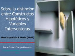 Sobre la construcción de constructos hipotéticos y