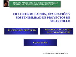 seminario formulación, evaluación y sostenibilidad de proyectos