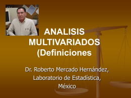 analisis multivariados