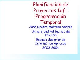 El Calendario - Universidad Politécnica de Valencia