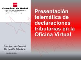 presentación telematica oficina virtual