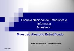 Muestreo Aleatorio Estratificado (MAE).