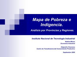 Mapa de Pobreza e Indigencia. Análisis por Provincia y Regiones