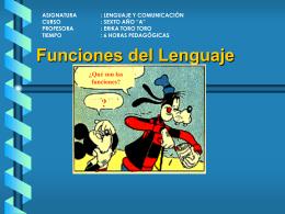 Qué son las funciones del Lenguaje?