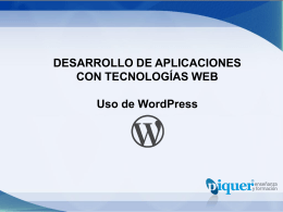 U3 – Uso de WordPress